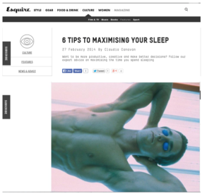Esquire magazine screen shot