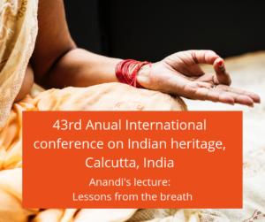 Anandi annual international conference on oriental heritage Calcutta India